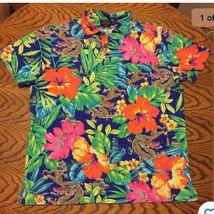 Polo Ralph Lauren Hawaiian shirt dragons floral
